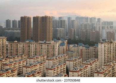 KUNMING, CHINA - DECEMBER 10: Construction on the outskirts of one of China's major cities, December 10, 2014, Kunming, China. China's economic boom leaves a trail of ghost cities.