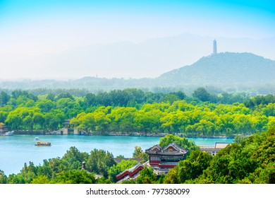 Kunming Lake and The Summer Palace. Located in Beijing, China.