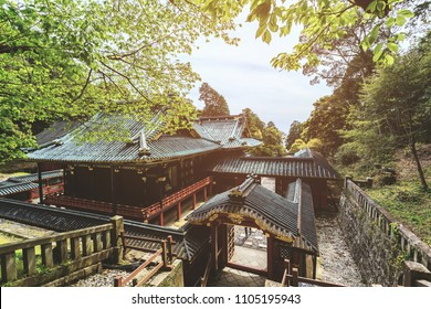 Kunozan Toshogu shrine in spring season at Shizuoka prefecture, Japan