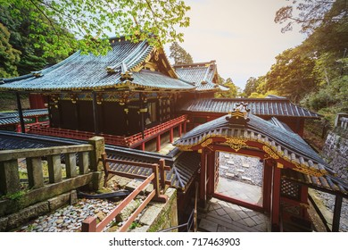 Kunozan Toshogu shrine in spring season at Shizuoka prefecture, Japan