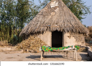 Kunri, Sindh/Pakistan - Feb 01, 2019 : Sindhi Farmer House in Sindh