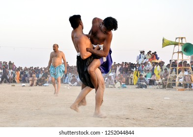 Kunri,Sindh/Pakistan-Dec 07-2018: famous games of sindh at Kunri Sindh Pakistan