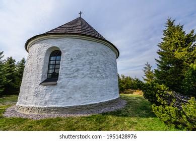 Kunstatska kaple in Orlicke hory in Czech republic. - Shutterstock ID 1951428976