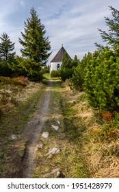 Kunstatska kaple in Orlicke hory in Czech republic. - Shutterstock ID 1951428979
