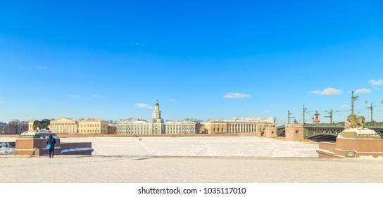 Kunstkammer in St. Petersburg in the winter