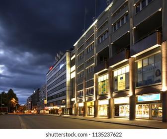 KUOPIO. FINLAND. 21 JUIY 2009 : New shopping center in Kuopio. Northern Savonia. Finland