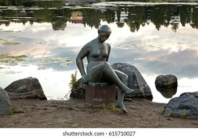 KUOPIO. FINLAND. 21 JUIY 2009 : Sculpture  Spring  in Kuopio. Northern Savonia. Finland
