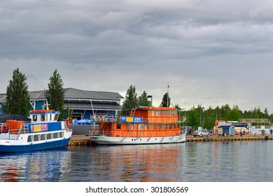 KUOPIO, FINLAND - JUNE 28, 2015:Kuopio offers biggest choice of lake cruises. Main season starts in May and lasts till end of August. Everyday, up to 20 local cruises depart from Kuopio harbour