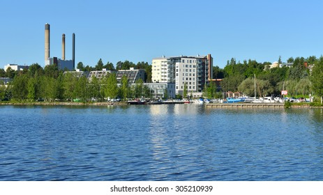 KUOPIO, FINLAND - JUNE 28, 2015:Kuopio is a city and a municipality located in the region of Northern Savonia. City has total area of 2,317.24 sq km, of which 719.85 sq km is water and half forest