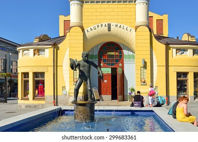 KUOPIO, FINLAND - JUNE 29, 2015:Kuopio market place, situated directly in center of city, is one of finest attractions. It is a traditional venue for encounters, sales and happenings