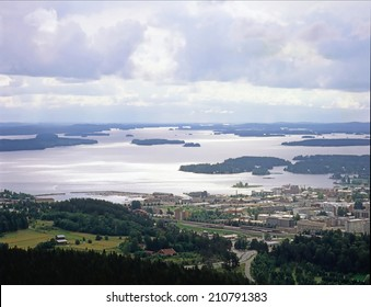 Kuopio with lakes  and forest in Finland