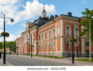 Kuopio, Northern Savonia, Finland, June 16, 2015: Town Hall in summer