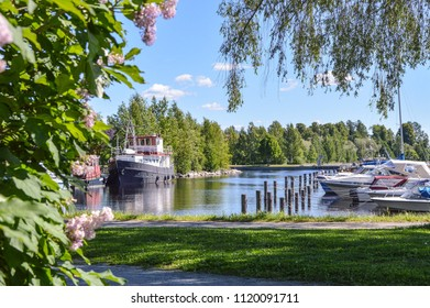 Kuopio visitor harbour at summer
