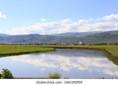 the kura river ardahan's in city Ardahan  of turkey
