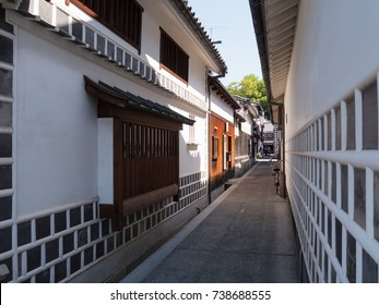 Kurashiki Bikan Historical Quarter, Kurashiki City, Okayama Prefecture, Japan. Kurashiki Bikan Historical Quarter is famous as a town of white walls, a city of culture.