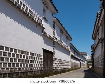 Kurashiki Bikan Historical Quarter, Kurashiki City, Okayama Prefecture, Japan. Kurashiki Bikan Historical Quarter is famous as a town of white walls, a city of culture.
