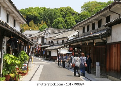 Kurashiki, Japan- May 11, 2017: old tourist street