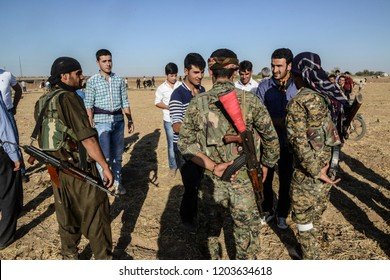 The Kurdish group that fights against ISIS in Syria, YPG. 14 june 2015. kobane ar syria