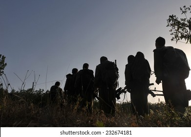 KURDISTAN, IRAQ -  JUNE 22:Militants in the Qandil Mountains, PKK (The Kurdistan Workers Party) militants on June 22, 2013 in Kurdistan, Qandil, Iraq.