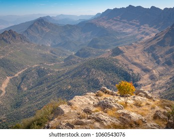 Kurdistan Iraq nature, Erbil, Duhok and Suleimaniya landscape scenic views. Beautiful mountains of Kurdistan in Iraq.