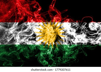 Kurdistan smoke flag, Iraq dependent territory flag