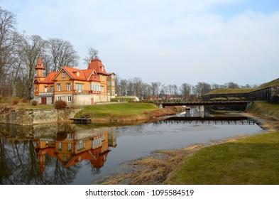 Kuressaare Castle and surroundings in Kuressaare on the island of Saaremaa, Estonia