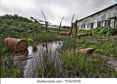 Kuril, Simushir Island. Ghost-town Kraternyi. The abandoned military base of the Soviet Navy