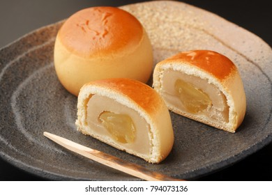 Kurimanju, one of traditional Japanese confectioneries, is a type of manju