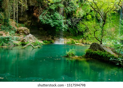 Kursunlu Waterfall & Nature Park lake in the forest