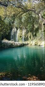 Kursunlu Waterfall or Kursunlu Salalesi in Antalya, Turkey