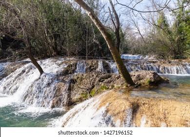 Kursunlu Waterfalls in Antalya, Turkey. Kursunlu selalesi