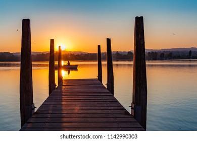 kurz vor Sonnenaufgang am Greifensee