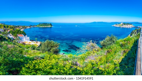 Kusadasi Coastline panoramic view in Kusadasi Town of Turkey
