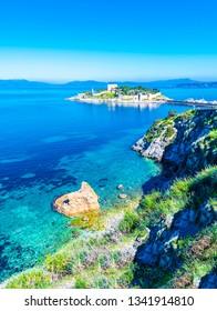 Kusadasi Coastline view in Kusadasi Town of Turkey