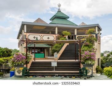 "Kuta, Bali, Indonesia - February 12 2015: Islam mosque ""Masjid Agung Ibnu Batutah"" at Puja Mandala Complex"