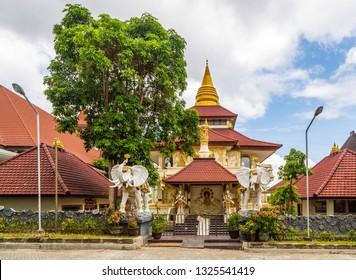 "Kuta, Bali, Indonesia - February 12 2015: Buddhist temple ""Vihara Buddha Guna"" at Puja Mandala Complex"