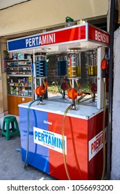 KUTA, INDONESIA - DECEMBER 4, 2017: Gasoline station on Bali island