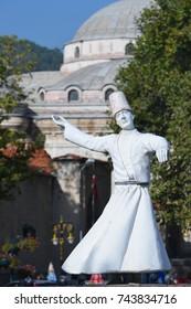 kutahya, Turkey - Twirling dervish statue in the city center