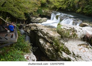 Kutaisi, Georgia - September 26, 2018: View to Martvili Canyon