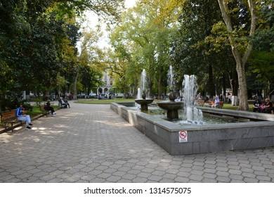 Kutaisi, Georgia - September 27, 2018: Kutaisi Park