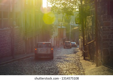 Kutaisi, Georgia - September 27, 2018: Street view in Kutaisi