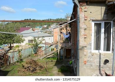 Kutaisi, Georgia - September 27, 2018: View to the houses