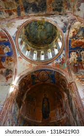 Kutaisi, Georgia - September 27, 2018: View from inside of Gelati Monastery