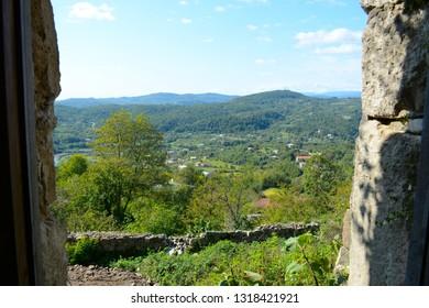 Kutaisi, Georgia - September 27, 2018: Beautiful view from Gelati Monastery