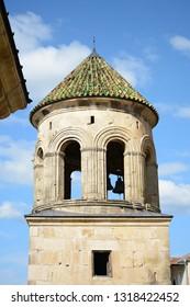 Kutaisi, Georgia - September 27, 2018: Bell tower in Gelati Monastery