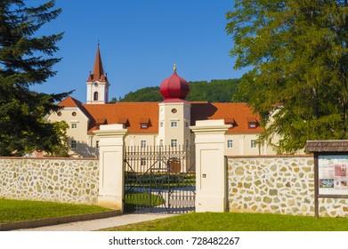 Kutjevo, Croatia - 28 August 2016: Castle in Kutjevo, Slavonia region