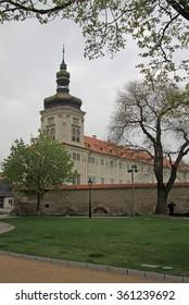 KUTNA HORA, CZECH REPUBLIC - APRIL 29, 2013: Jesuit College in Kutna Hora, Czech Republic