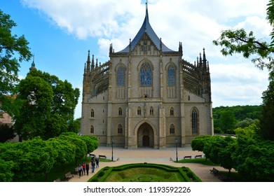 Kutna Hora, Czech Republic. Church of Saint Barbara. UNESCO World Heritage Site