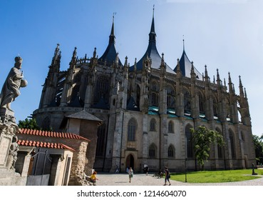 Kutna Hora, Czech Republic. Church of Saint Barbara. UNESCO World Heritage Site