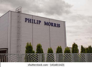 KUTNA HORA, CZECH REPUBLIC - MAY 4, 2019: Philip Morris factory in Kutna Hora. Philip Morris CR is the subsidiary of Philip Morris International.